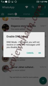 GBwhatsapp feature of dnd mode